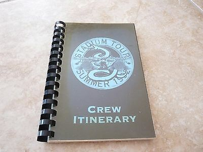 Metallica 1992 Summer Stadium GNR Tour RARE Concert Band Tour Itinerary Book #1