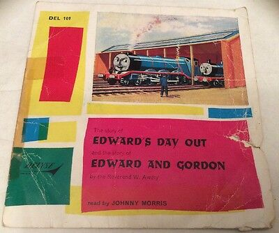 Rare Delyse 45rpm Record 'Edward's Day Out + Edward & Gordon' Read Johnny Morris