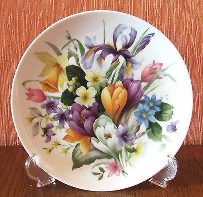 West German Kaiser Decorative Plate No.64 with Multi-coloured Flowers.