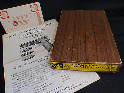 Colt Commander Automatic Pistol Original Factory Issued 2-Piece Box Case