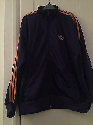 New Adidas Purple And Orange tracksuit top SIZE XL Men's