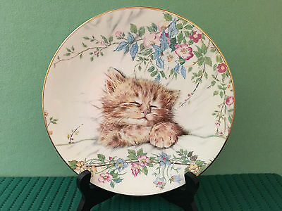 Royal Worcester Cat Nap Limited Edition Plate 1st in Kitten Classics. FREE SHIP