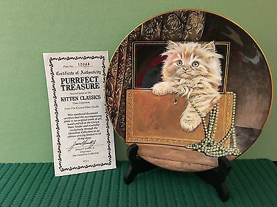 Worcester Purrfect Treasure Limited Edition 2nd in Kitten Classics COA #12044