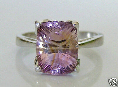 Beautiful 9ct White Gold Amethyst Ring Size N 1/2 3g