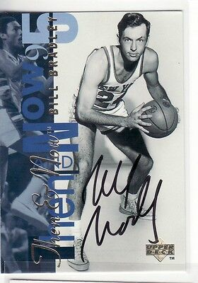 Bill Bradley New York Knicks  Autographed Card Rare Hard To Find