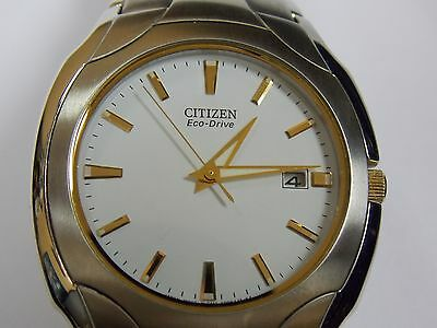 Handsome,citizen Eco Drive Wrist Watch With Date!!