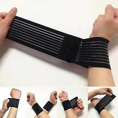 15inch Support Gym Strap Elastic Bandage Palm Wrap Hand Brace Wrist Sports ZT