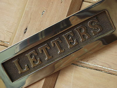 EX DISPLAY Victorian Old Style BRASS Letter Box vintage edwardian georgian style