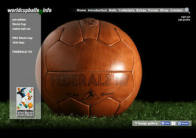 The official ball of the 1934 FIFA World Cup in Italy: FEDERALE 102
