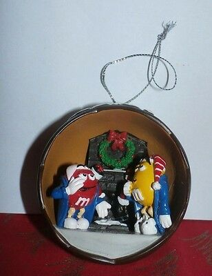 M&M's World Red and Yellow Characters Ball Christmas Ornament