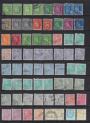 Fulsome Finland Selection with Interesting Duplicates - 2 SCANS   (Fin 2511 2)