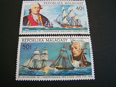 Malagasy republic. 525-6, C137-9. Naval engagaments of the American revolution.
