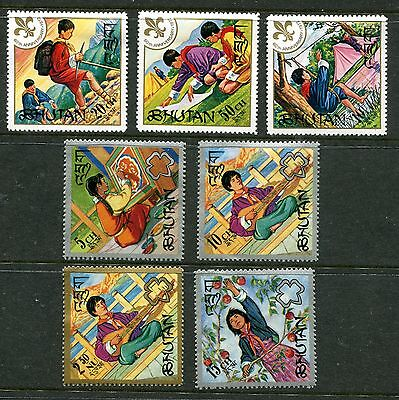 Bhutan 1967 Selecton of Scout and Girl Guide MH