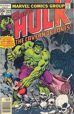 Incredible Hulk (1968 series) #222 in Very Fine condition. FREE bag/board