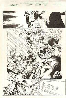 X-Men #105 p.14 - Helix vs. Wolverine, Colossus & Archangel by Leinil Francis Yu