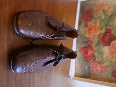 Grenson genuine Antelope leather mens shoe/boot/chukka Made in England 7 vintage