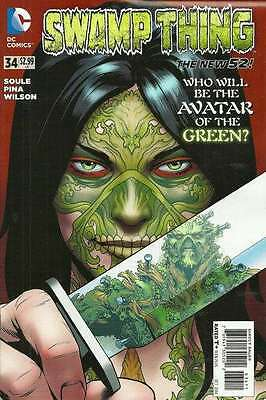 Swamp Thing (2011 series) #34 in Near Mint + condition. FREE bag/board