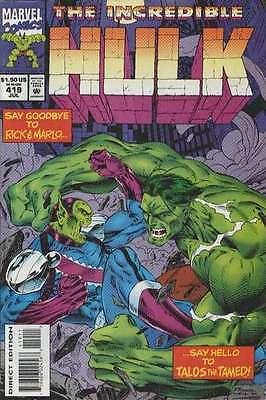 Incredible Hulk (1968 series) #419 in Near Mint + condition. FREE bag/board