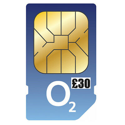 O2 PAYG 30 Pound Big Bundle Triple Sim Pack