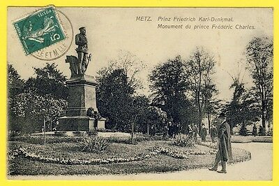 cpa 57 - METZ (Moselle) Monument du Prince Frédéric Charles
