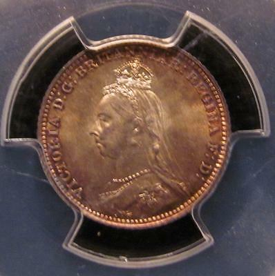 1888 Great Britain 4D / Four Pence PCGS MS65  KM-772  Uncirculated.      #MF-