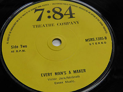 "7:84 Band-Every Man/Maclean March-UK Vinyl 7""-DIY Protest Folk Popsike-1974-HEAR"