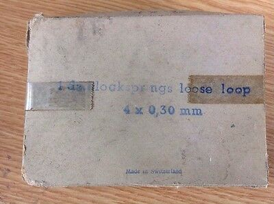 Vintage Clock Mainspring Loose Loop 4 X 0.3 Mm New Old Stock