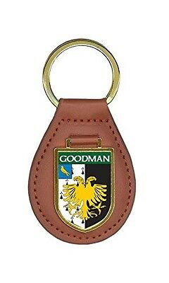 Court Family Crest Surname Coat Of Arms Brown Leather Keyring Engraved