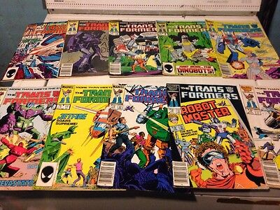 Lot Of Marvel Transformers Comics Readers Copies  Issues 4,5,7-11,14,15,19