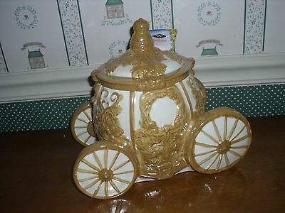 Westland -Disney - Cinderella's Carriage Cookie Jar-Mib