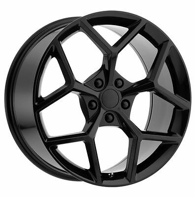 New Set Two 20X9 And Two 20X10 Z28 Camaro Style Gloss Black Wheels Ss Ls Rs Lt