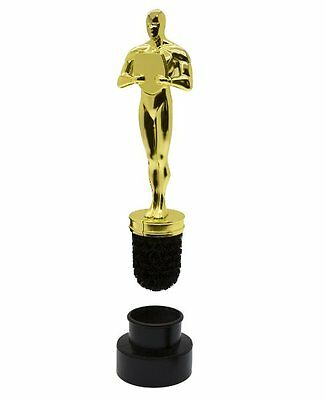 THE TOILET Gold AWARD Statue NOVELTY Toilet Brush and Holder THUMBS UP