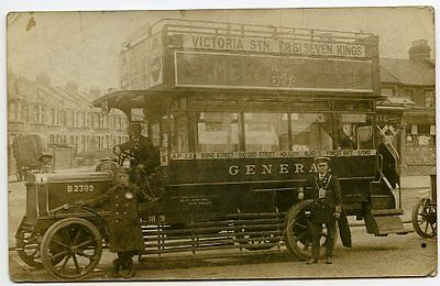 SEVEN KINGS, Essex. No.25 BUS from VICTORIA - Real Photo postcard, fine detail