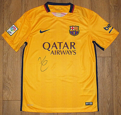 Luis Enrique signed Barcelona shirt, club manager, legend, Spain. COA. Proof.