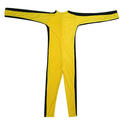 Handsome Bruce Lee Kung Fu Elastic Zipper Cosplay Costume Tracksuit Jumpsuit