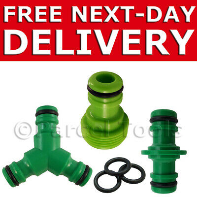 """Hozelock Style HOSE PIPE CONNECTOR Tap 2-Way Double 3 Triple Hosepipe Male 3/4"""""""