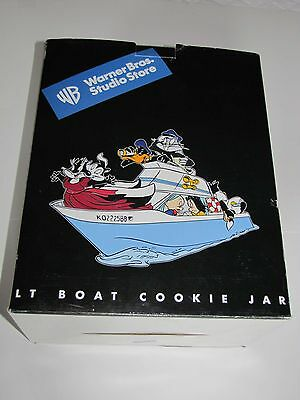 Warner Bros Studio Store 2000 Official Licensed Looney Tunes Boat Cookie Jar