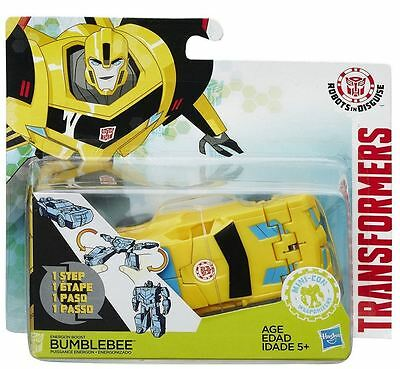 Transformers Bumblebee Camaro Robot in 1 Step Robots in Disguise Yellow/Blk New