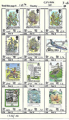 CAYMAN ISLANDS...# 455/566...1980/86...12 Diff...Used...SCV  $ 18.90