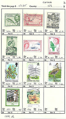 CAYMAN ISLANDS...# 101a/566...1938/86...11 Diff...Mint & Used...SCV  $ 17.65
