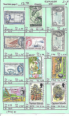 CAYMAN ISLANDS...# 115/454...1947/80...12 Diff...Mint & Used...SCV  $ 17.40