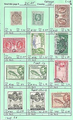 CAYMAN ISLANDS...# 31/108...1908/38...12 Diff...Mint & Used...SCV  $ 25.25