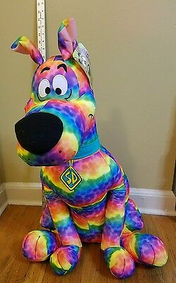 "Scooby-Doo 28"" Tie-Dye Large Plush Dog Toy Factory Stuffed Animal NWT"