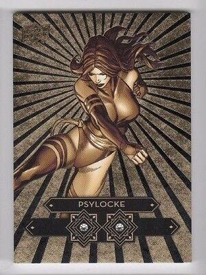 2016 Upper Deck Marvel Gems Diamond Mine Gold Psylocke 5/5 DDM8