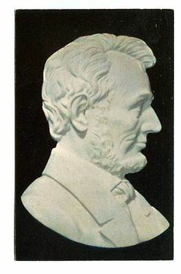 RELIEF CARVING OF ABRAHAM LINCOLN IN VERMONT STATUARY MARBLE, PROCTOR, VT-unused
