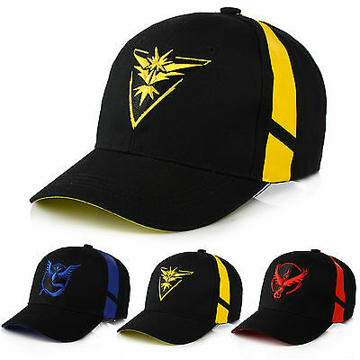 Pokemon Go Cap Hat Team Valor Team Mystic Team Instinct Pokemon Cap Pokemon Hats