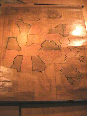 1844 J.h.young Mitchell Wall Map Of United States All Original Very Rare 38 X 47