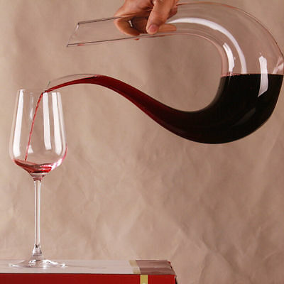 New Fashion Crystal Glass U-shaped Horn Wine Decanter Wine Pourer Wine Container