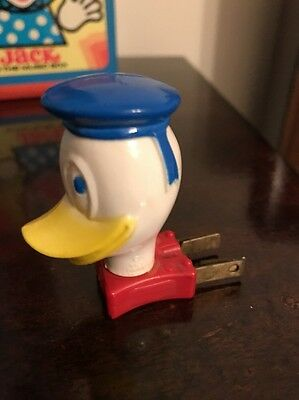 Vintage Plastic 1960's Walt Disney Donald Duck Night Light Theme Christmas Deco