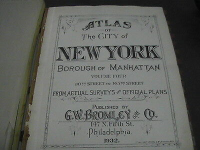 1932 Atlas Of New York Borough Of Manhattan 30 Large Plates Volume 4